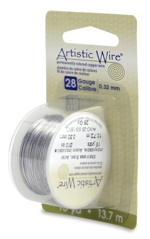 15-Yard Stainless Steel Beadalon 28 Gauge Artistic Wire