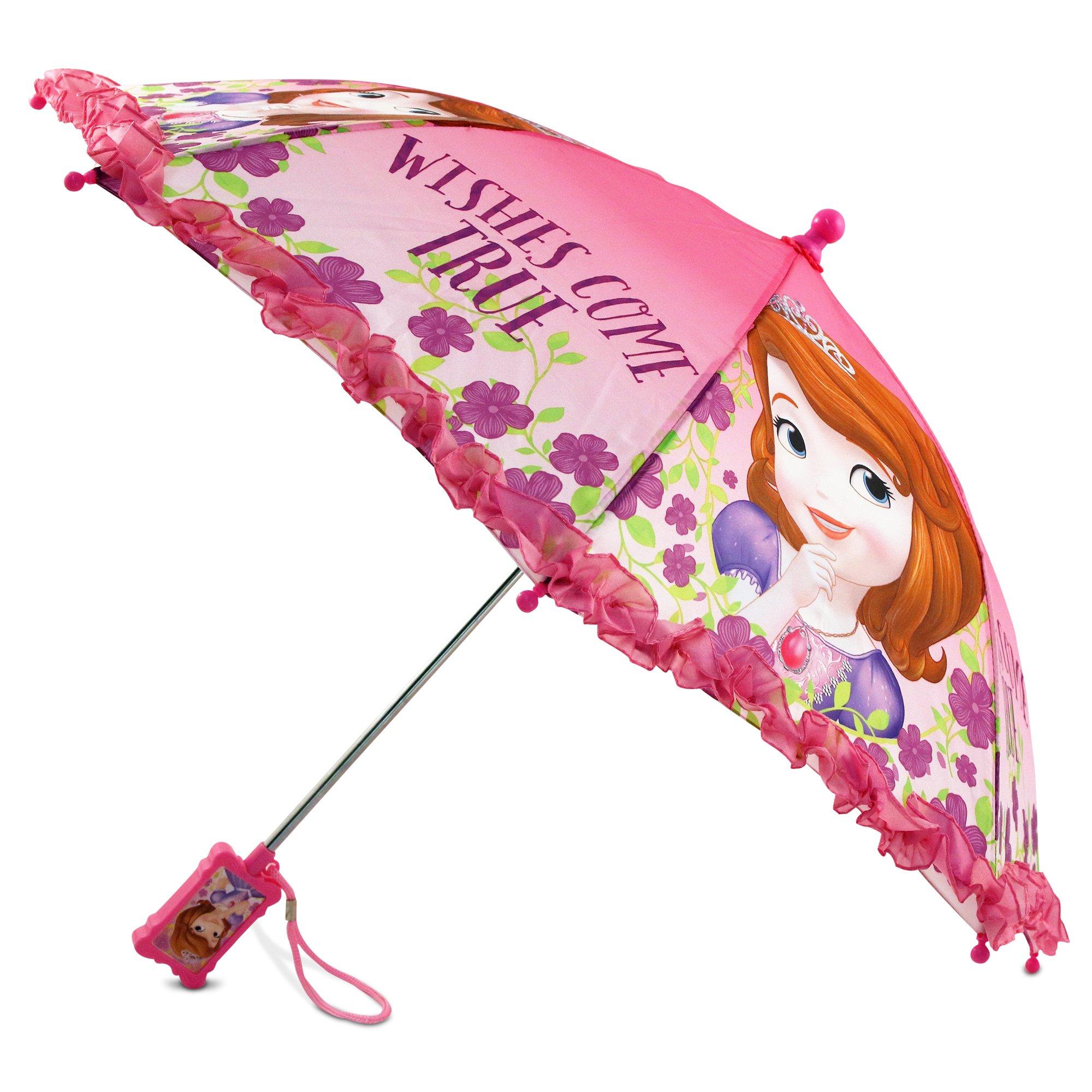 Disney Girls' Little Sofia The First Character Rainwear Umbrella, Pink, Age 3-7 by Disney (Image #4)