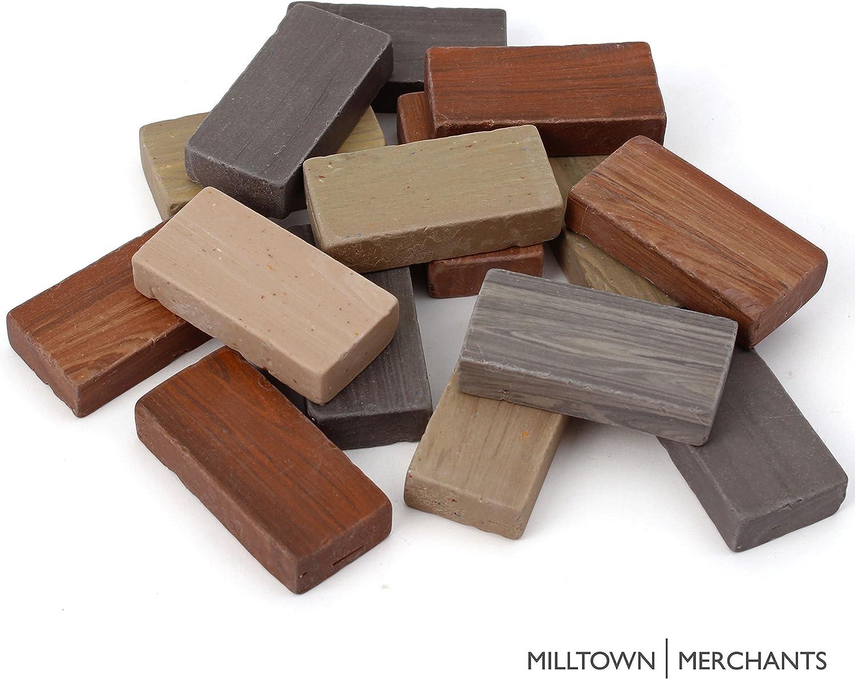 "Milltown Merchants™ 7/8"" (22mm) Earthy Domino Mosaic Tiles, 3 Pound (48 oz) Bulk Assortment of Porcelain Mosaic Tiles - Brown, Beige, Gray Mix"