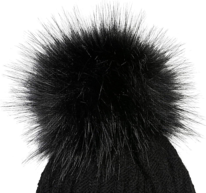Winter 01018212 Thermo-Fleece Innenfutter styleBREAKER Unisex Strick Schal und M/ütze Set mit Flecht Muster
