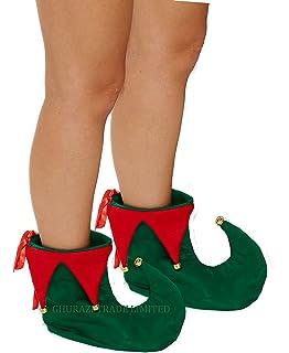 ELf PIXIE SHOES SANTA SHOE COVERS CHRISTMAS FANCY DRESS BOOTS FATHHER CHRISTMAS