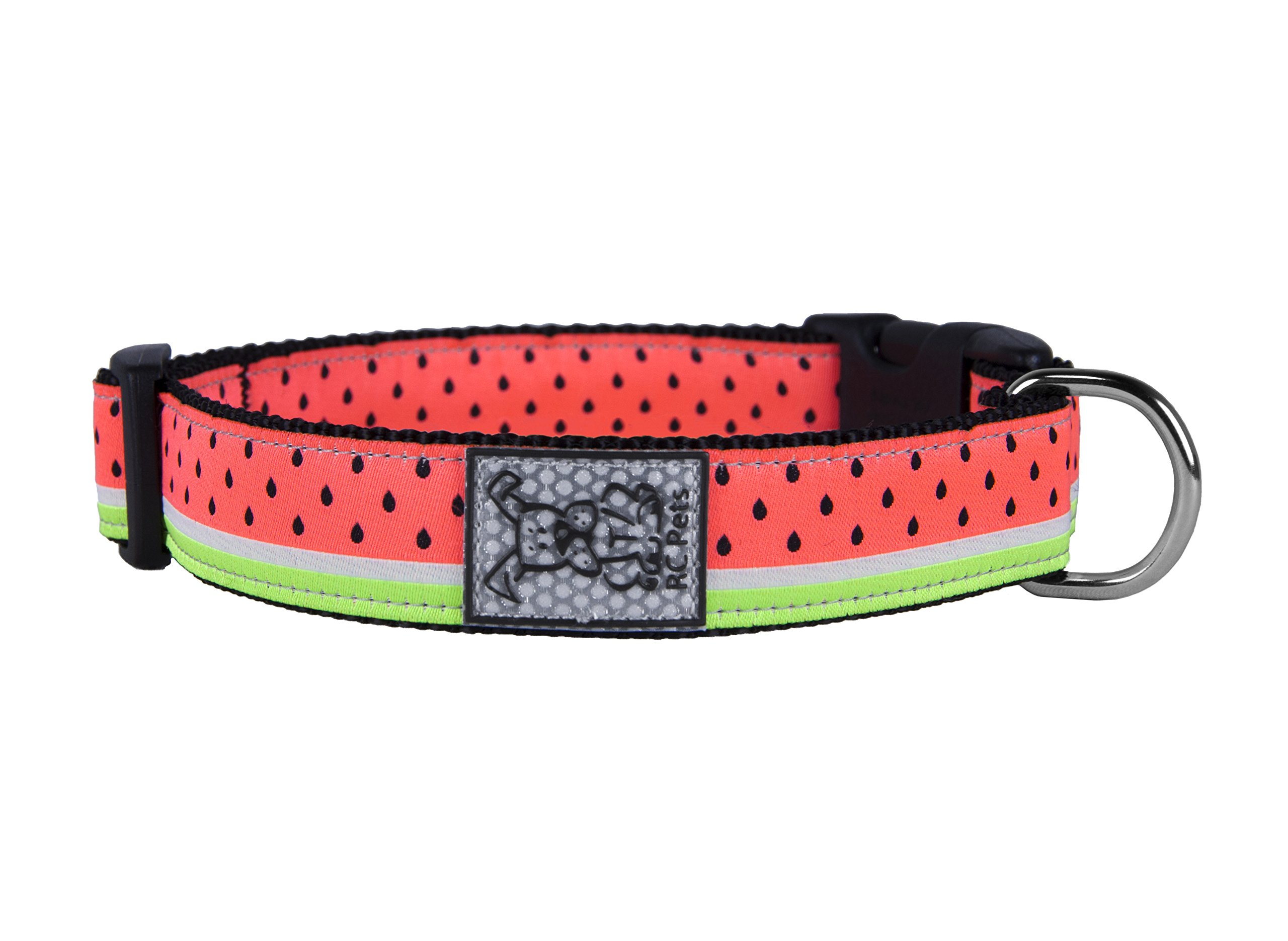 RC Pet Products 1'' Adjustable Dog Clip Collar, Watermelon, Medium