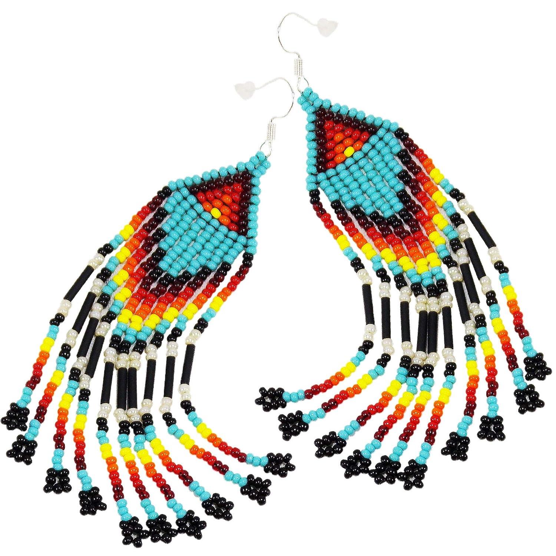 Silver Western Earrings Turquoise Western Earrings Rodeo Earrings Boho Earrings Native Earrings Cowgirl Gypsy Native Vintage Earrings