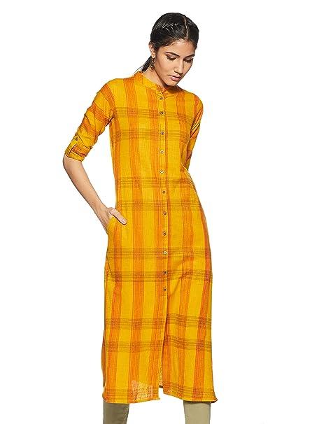 defe415c29 Gerua Women's Cotton a-line Kurta: Amazon.in: Clothing & Accessories