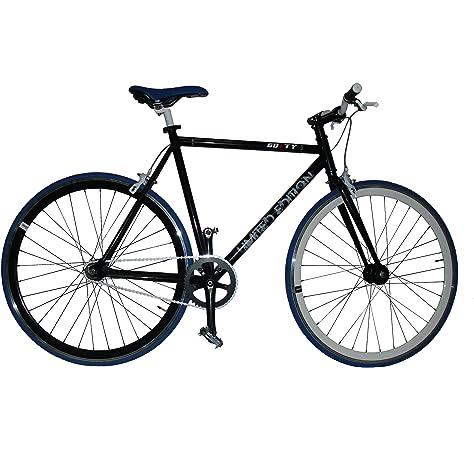 Fixie Helliot Fixie Tribeca H21 Bicicleta Urbana, Hombre, Negro y Violeta, Estandar: Amazon.es: Deportes y aire libre