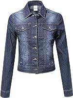 FPT Womens Cropped Denim Jacket (S-3XL) at Amazon Women&39s Coats Shop