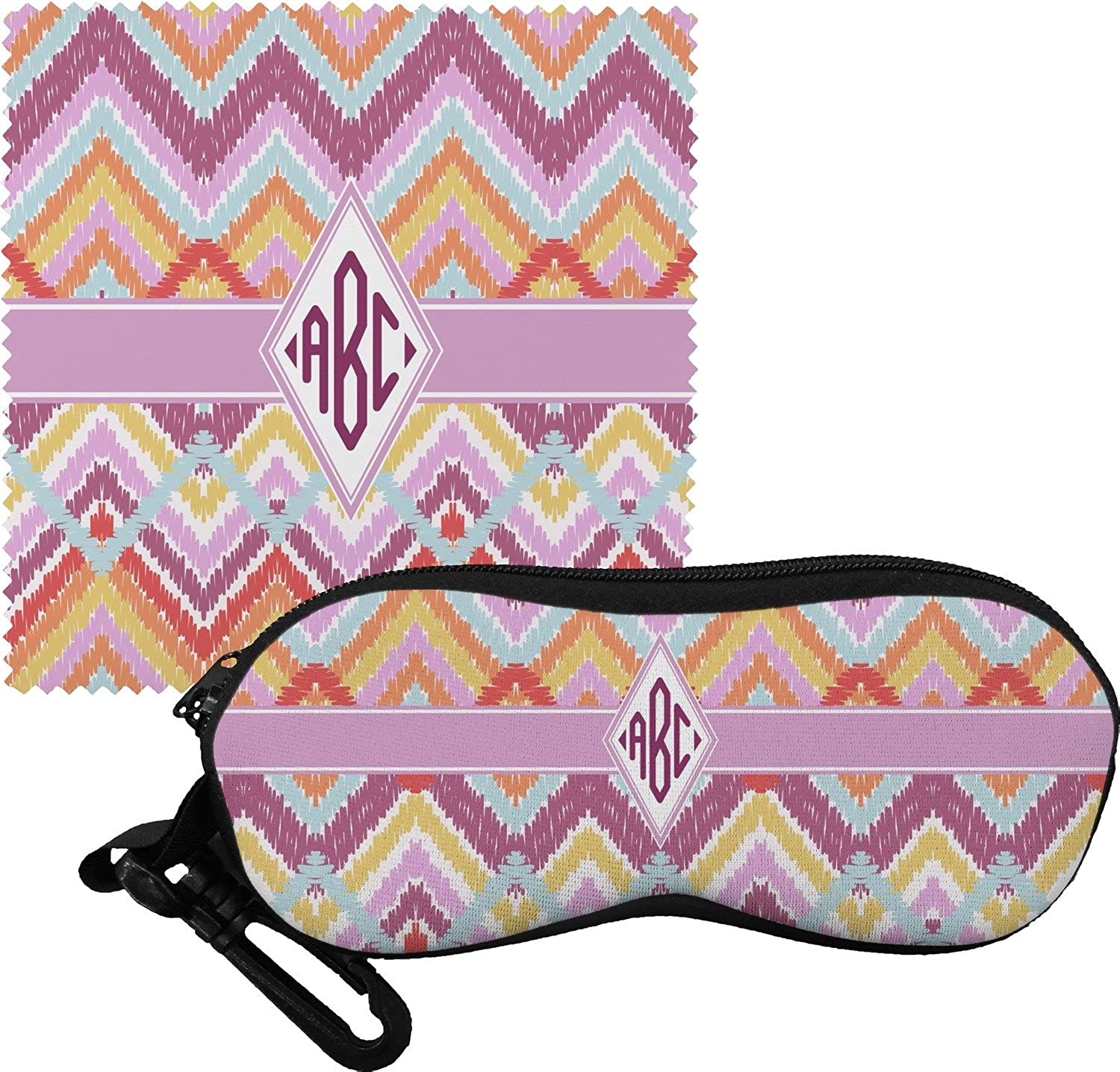 Ikat Chevron Eyeglass Case & Cloth (Personalized)