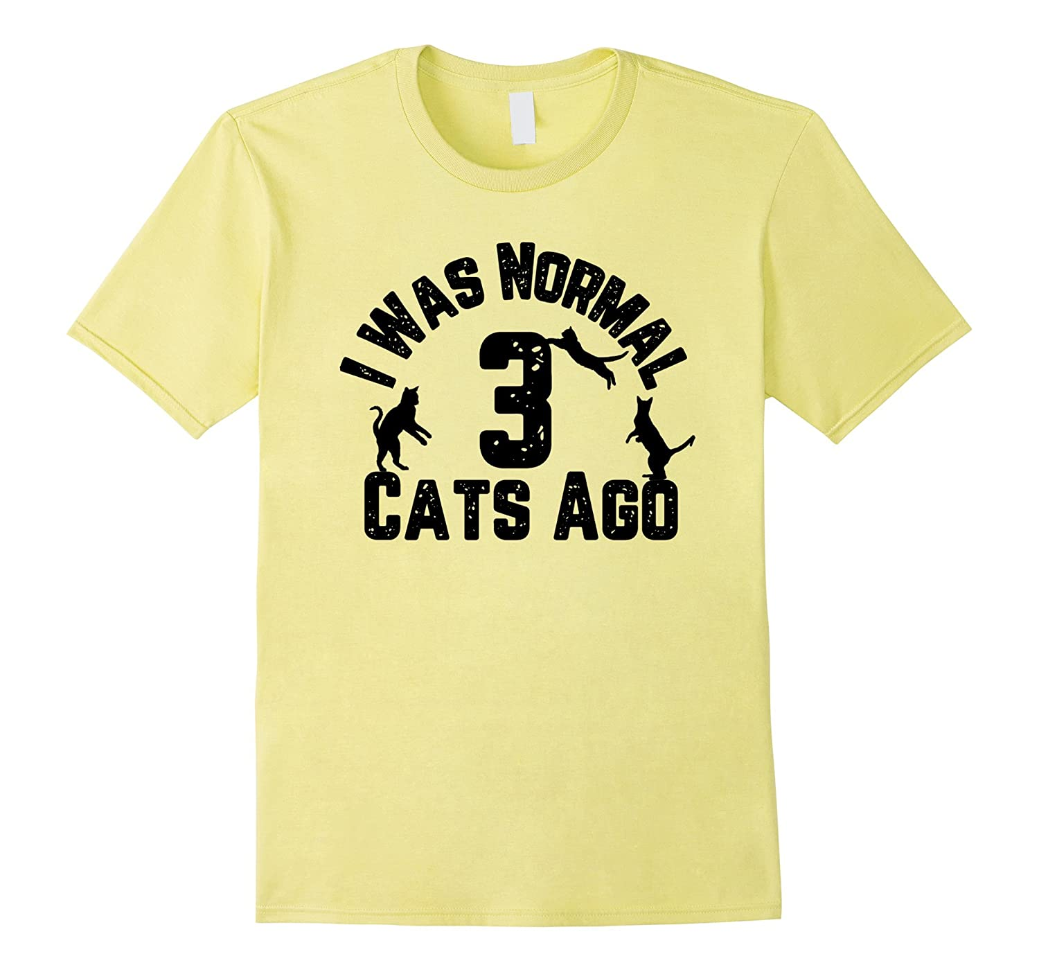 I Was Normal 3 Cats Ago Funny Cat Lover T-Shirt-Art