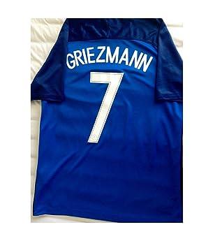2016 - 2017 Home France Blue 7 Antoine Griezmann Soccer Football Jersey  (Medium) 4c1561761