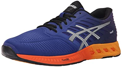 ASICS Men's FuzeX Running Shoe, Blue/Indigo Blue/Hot Orange,10 M