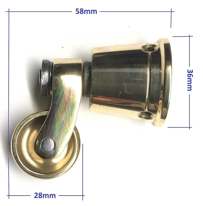 Lat/ón pulido s/ólido genuino pieza /única Empresa del Reino Unido lat/ón pulido Vintage antiguo Ajuste estilo taza Rueda de lat/ón macizo de alta calidad con rueda de 25 mm