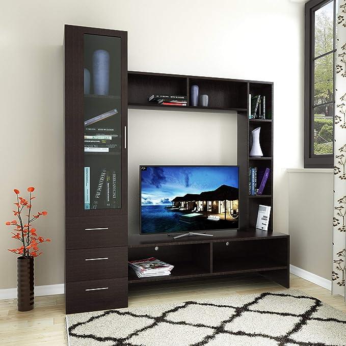 @home by Nilkamal Monark Wall Unit  Cappucino  TV   Entertainment Units