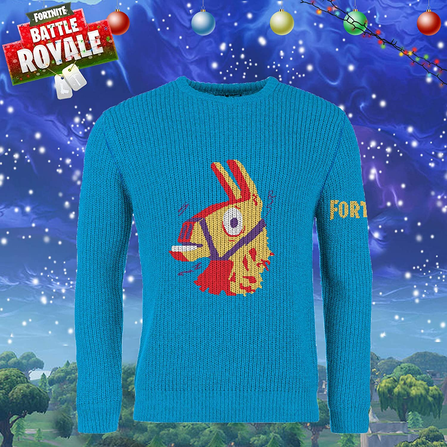Fortnite Official Merchandise Ugly Christmas Jumper Pullover Xmas