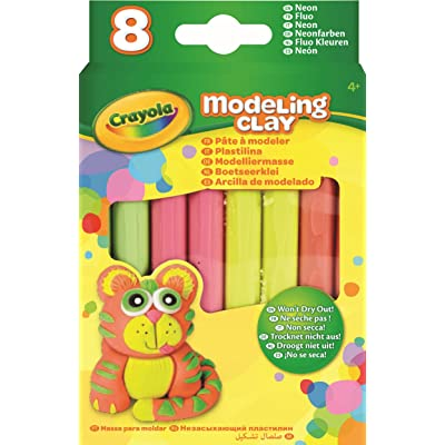 Crayola Modeling Clay, 1/4 lb, Assorted Neon Colors, Set of 4: Office Products