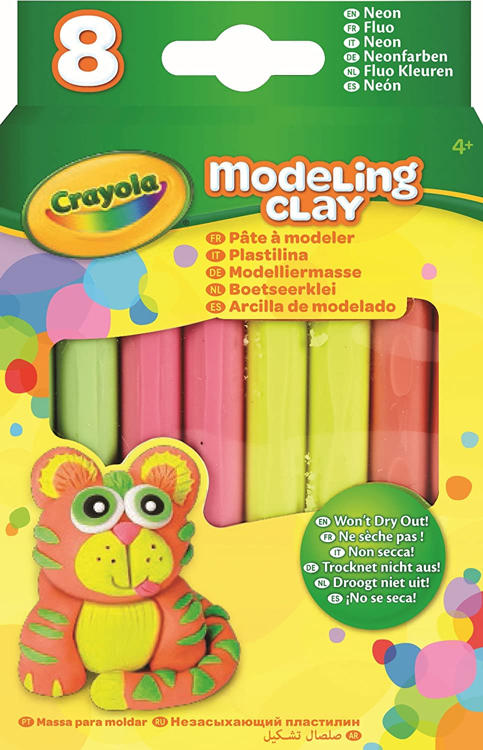 School and Craft Supplies Gifting Crayola Modeling Clay 8-Count Classic Ages 3,4 Holiday Toys Gift for Boys and Girls 6 and Up 5 Arts and Crafts Kids Stocking