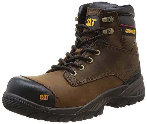 Cat Spiro ST S3 HR, Zapatos de Seguridad para Hombre, Marrón (Dark Brown