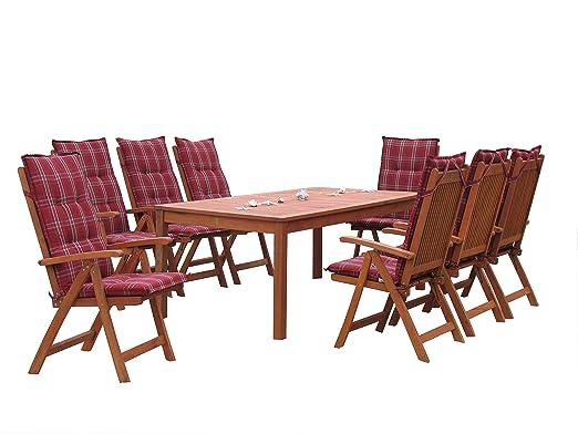 Grasekamp GmbH Santos - Juego de mesas y sillas de jardín (17 ...