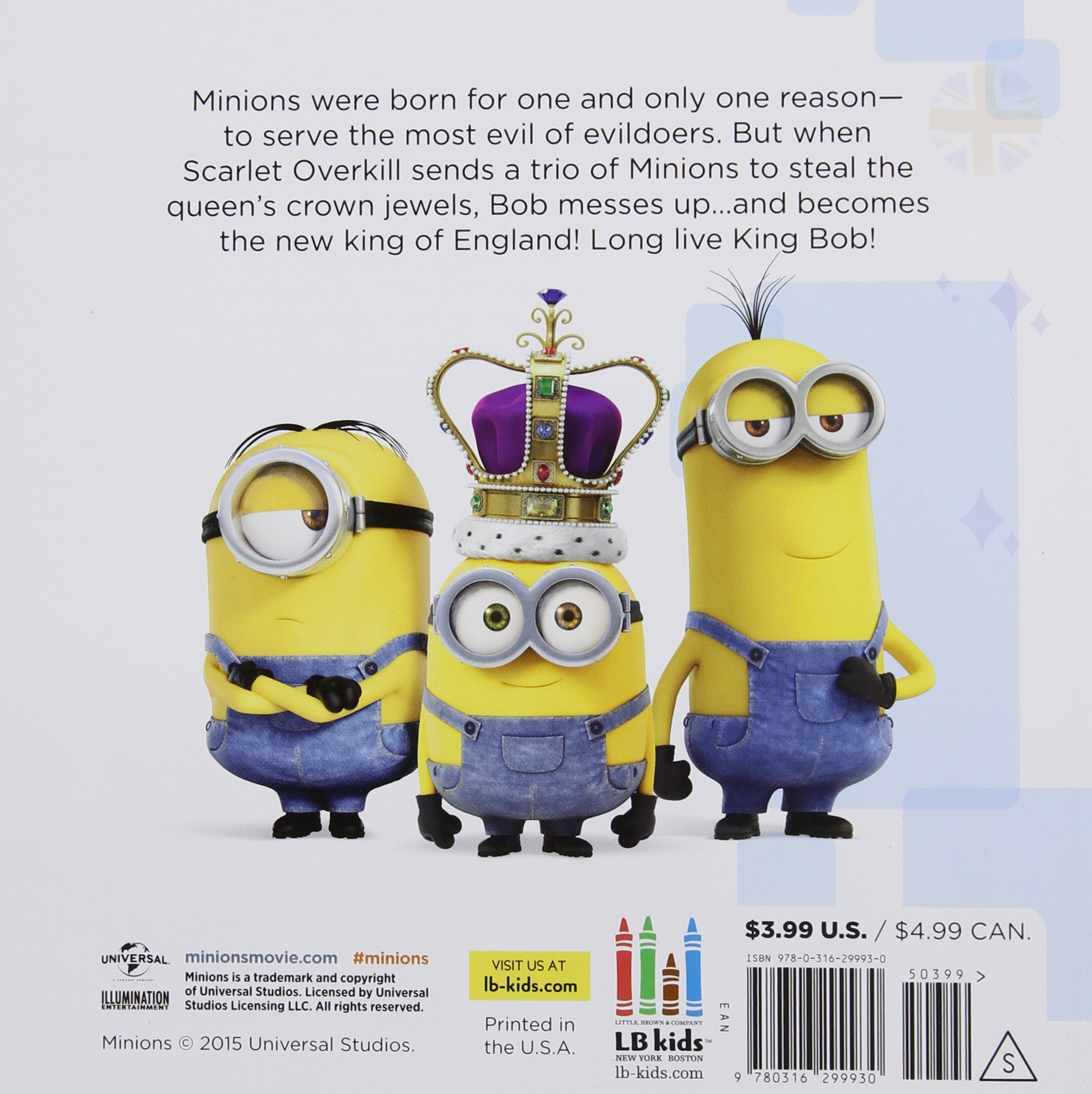 Minions Long Live King Bob Lucy Rosen 9780316299930 Amazon Books