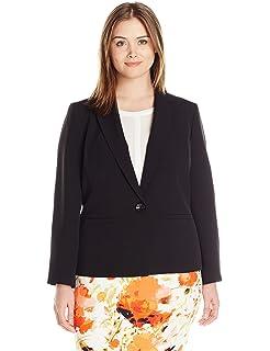 Kasper Womens Plus Size Stretch Crepe Flyaway Jacket at ...