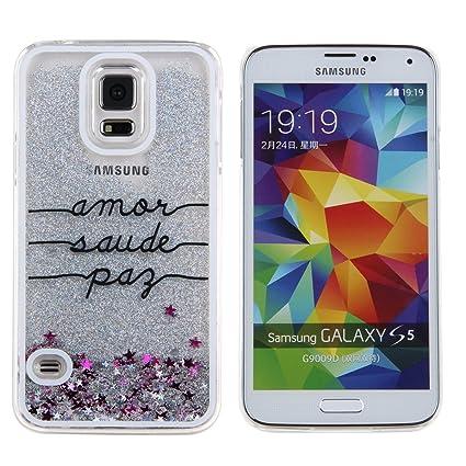 Amazon.com: daminfe Galaxy S5 Caso, Bling Caso para Samsung ...