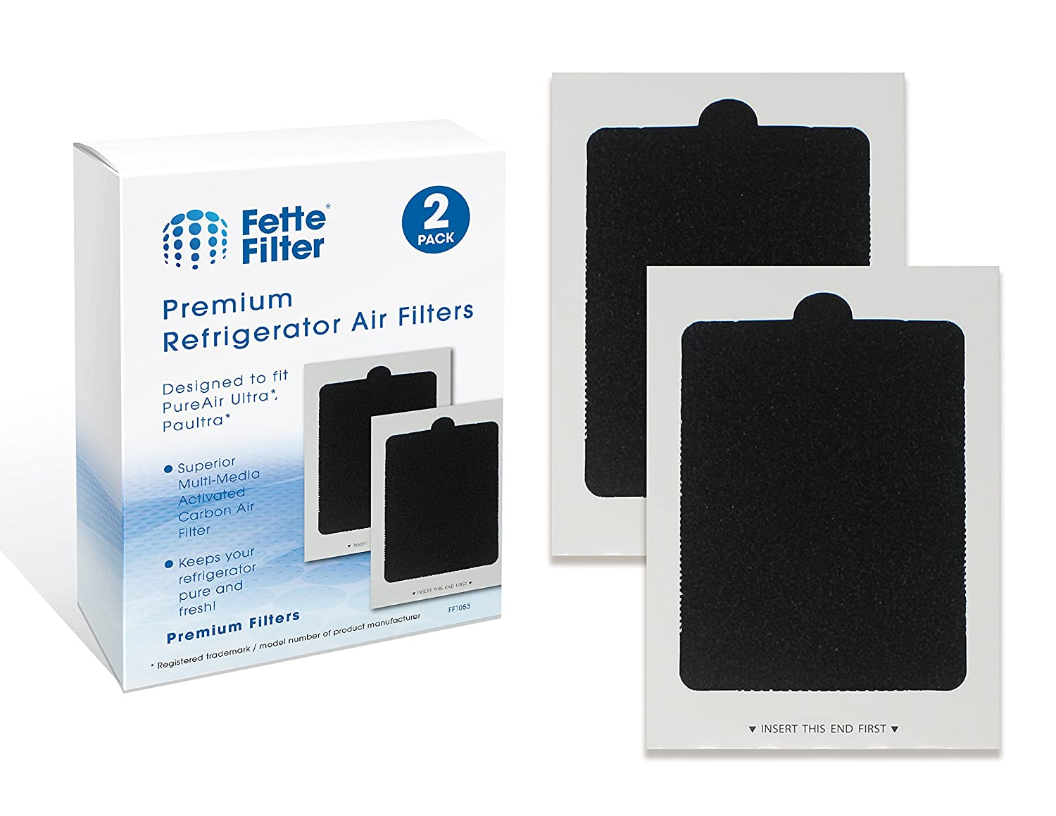 Fette Filter - Refrigerator Air Filters Compatible with Part # PAULTRA Air Filter. Pack of 2