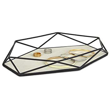 Amazoncom Umbra Prisma Jewelry Tray Black Home Kitchen