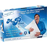 MyPillow My Pillow Classic Series Bed Pillow, SQ1928, Cotton, White [Medium Fill], Standard/Queen