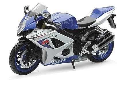 New Ray, 1:12 Scale, Die Cast, Suzuki GSX R1000 Motorcycle (Blue/Silver)