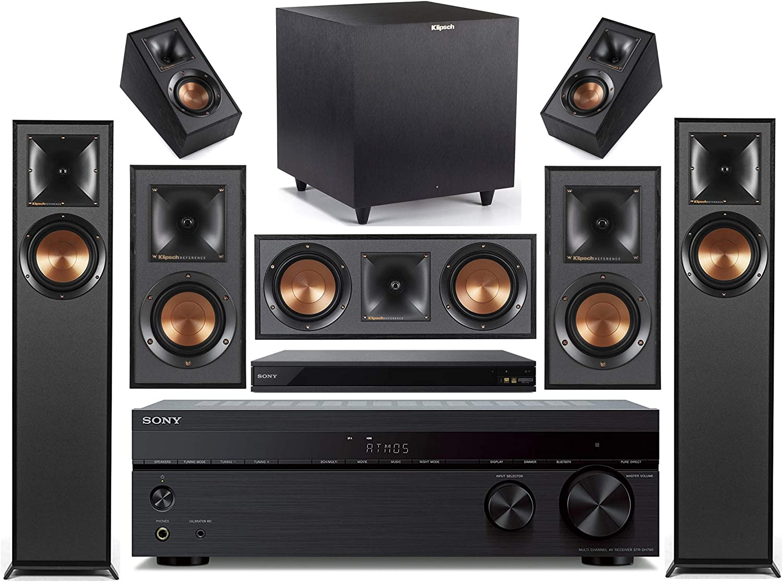 Sony 7.2-Channel Wireless Bluetooth 4K 3D A/V Surround Sound Receiver + Klipsch Multimedia Home Theater Speaker System (Bundle)