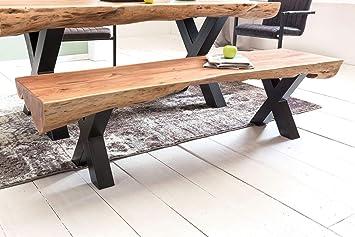 Wohnling Esszimmerbank Akazie Landhaus Stil Voll Holz 170 X 46 X 46