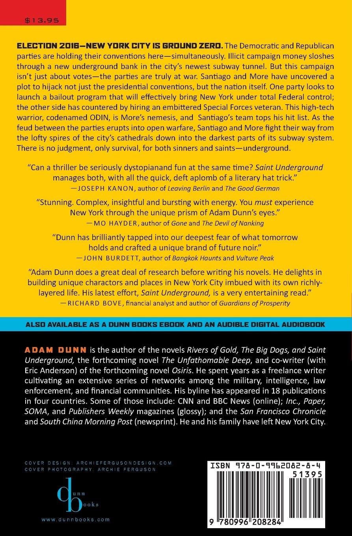Saint Underground (the More Series Book 3): Adam Dunn: 9780996208284:  Amazon: Books