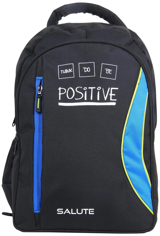 Salute Polyester 34 Ltrs Black & Blue Laptop Backpack