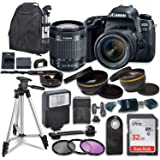Canon EOS 77D DSLR W/Canon EF-S 18-55mm is STM Lens and Accessory Bundle