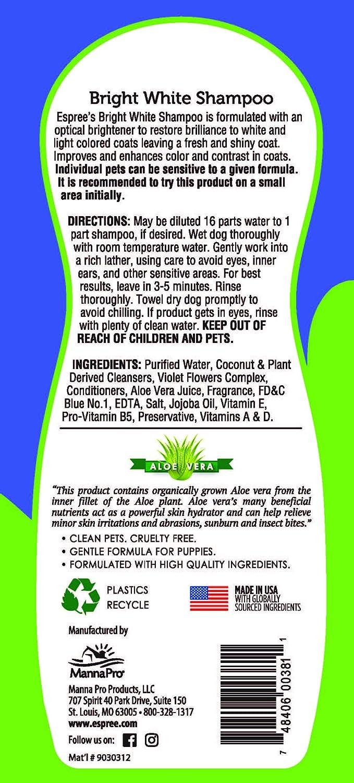 Pet Shampoos Amazon Com Espree Bright White Dog Shampoo 20 Oz