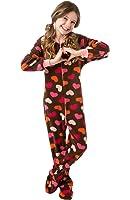 Amazon.com: Big Feet Pjs Big Girls Pink Camo Kids Footed Pajamas ...