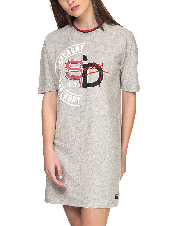Superdry Womens Boyfriend T Shirt Dress Grey At Amazon Womens