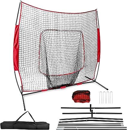 7/'x7/' Baseball Practice Hitting Pitching Batting Net Cage Softball Ball Workout