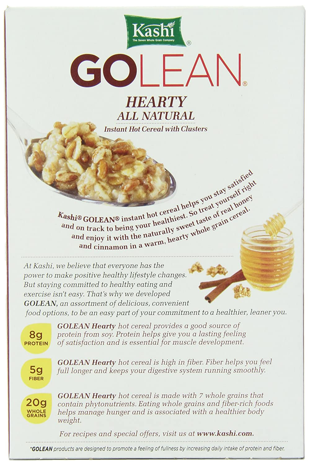 Amazon kashi golean instant hot cereal hearty honey cinnamon amazon kashi golean instant hot cereal hearty honey cinnamon 1128 ounce boxes pack of 6 oatmeal breakfast cereals ccuart Choice Image