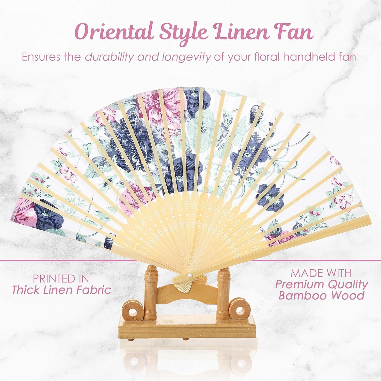 Mua sản phẩm vvljproducts Beautiful Folding Bamboo Hand Fan With ...