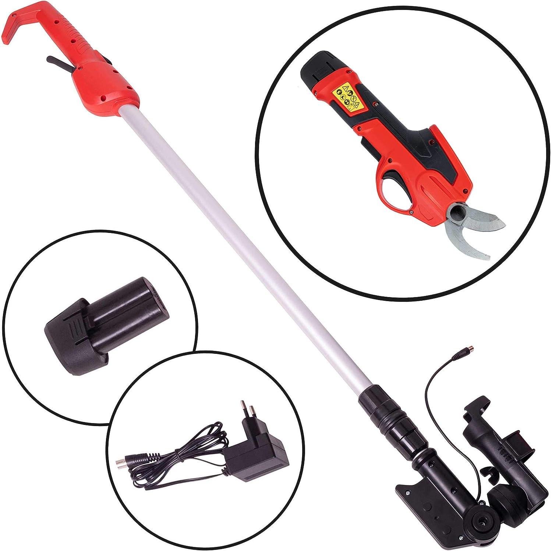 ONVAYA/® electric garden shears with telescopic handle shrub shears with battery pruning cutter. tree shears pruning shears telescopic shears