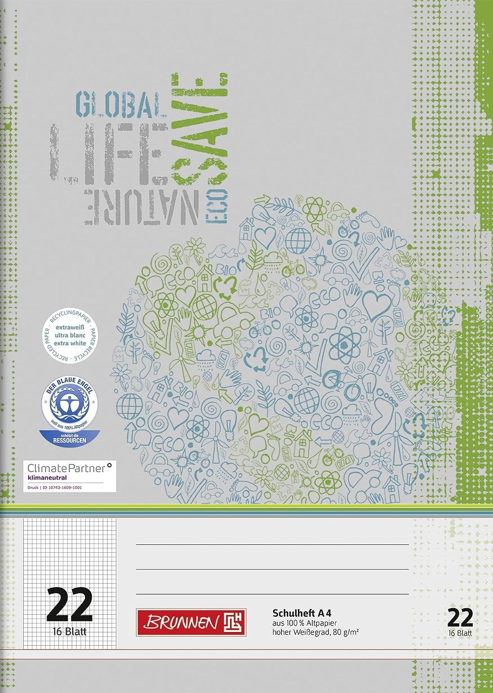 Fontana 104412201–Quaderno di riciclaggio DIN A4, 16fogli, semplice quaderno
