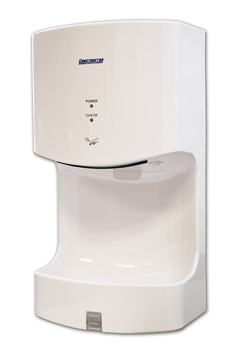 1300 Watts High Speed Automatic Hand Dryer Plastic Durable Infared (White) Constructor CHD90