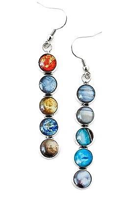 Solar System Dangle Earrings