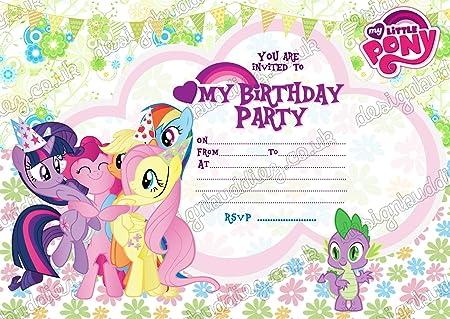 Juego de 10 invitaciones de cumpleaños con un diseño de My ...