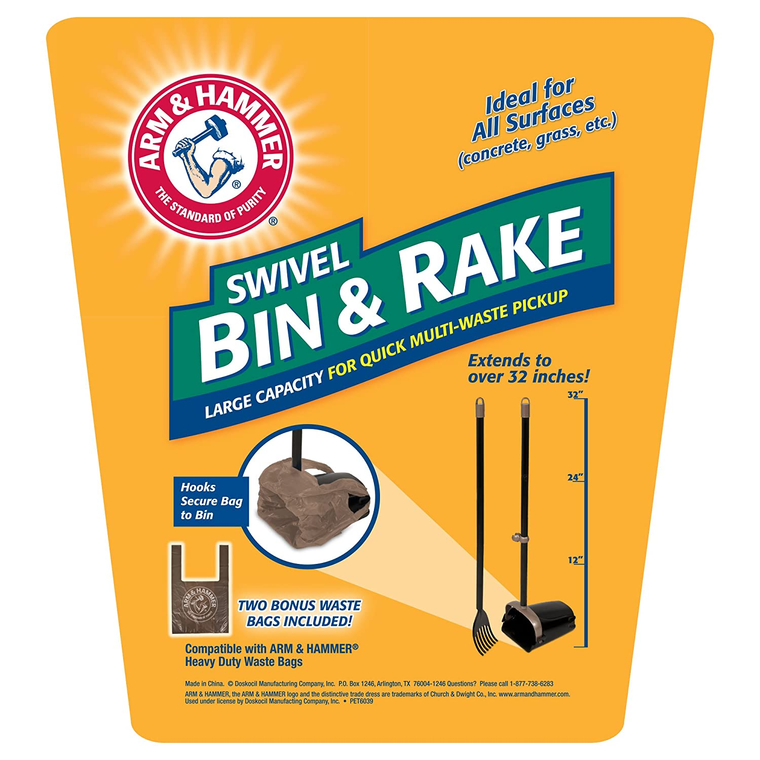 Amazon Arm & Hammer Swivel Bin & Rake Pet Supplies