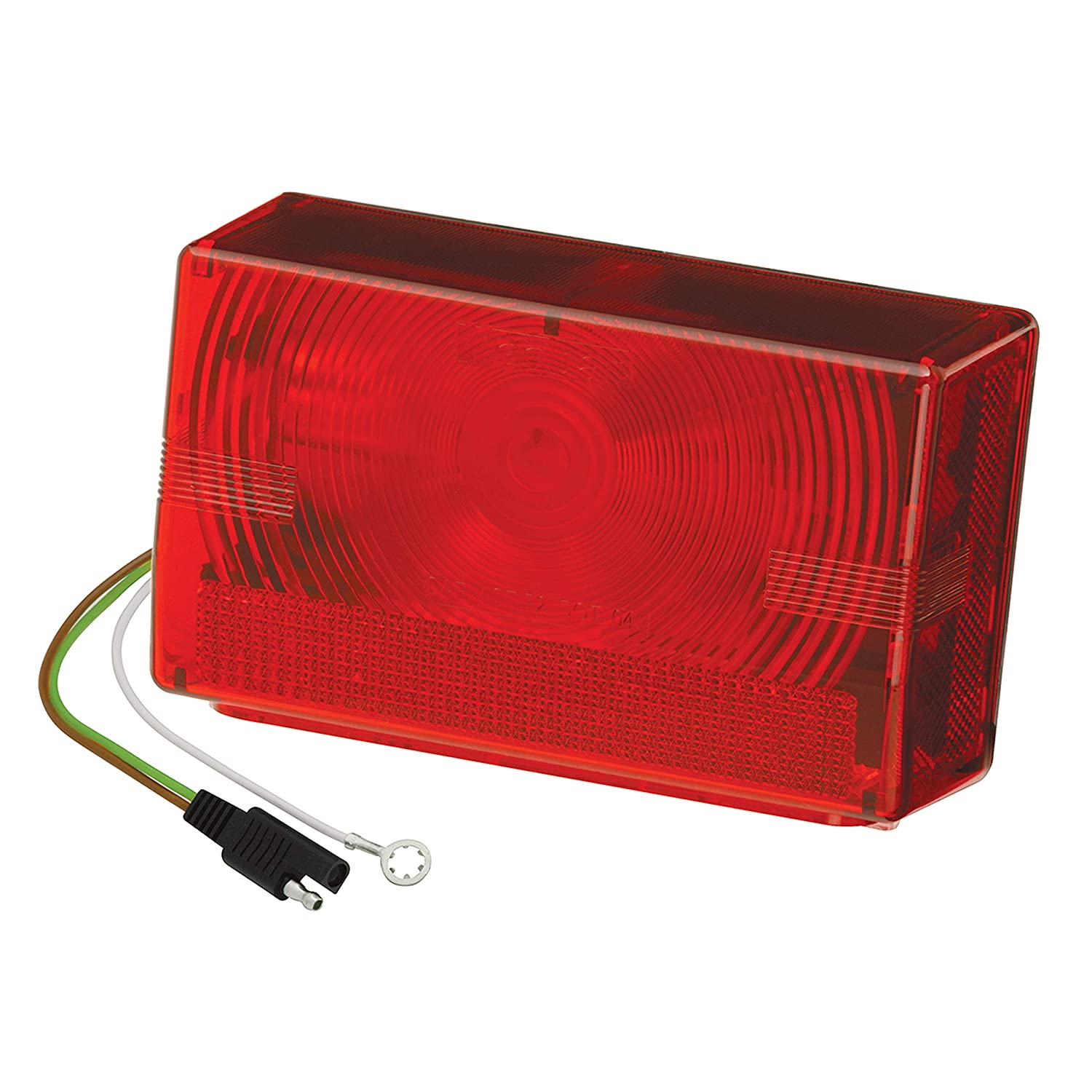 Right//Curbside Over 80 Wide Trailer Black Wesbar 403075 Submersible Tail Light