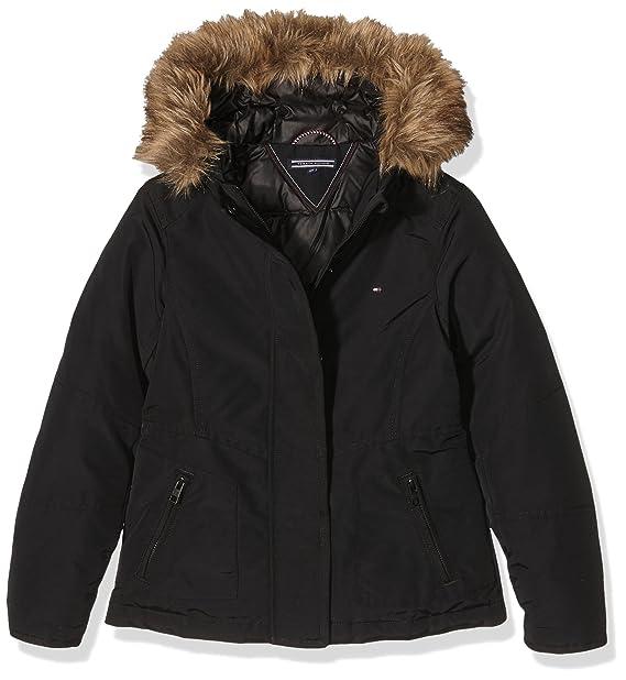 Tommy Hilfiger DG THDW Technical Jacket 6, Abrigo para Niñas, Negro (Tommy Black), 16 años: Amazon.es: Ropa y accesorios