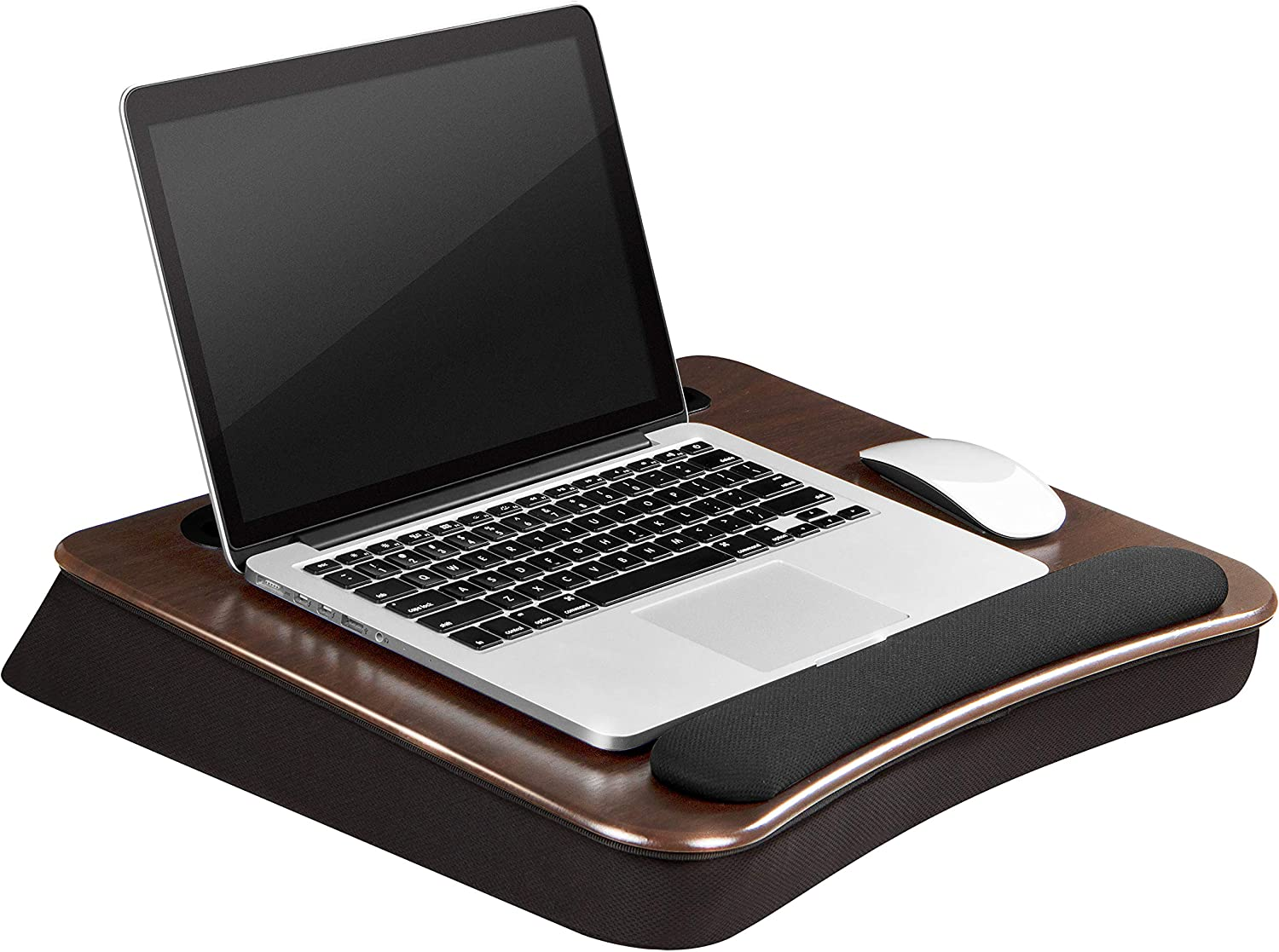 LapGear Smart-E Pro Lap Desk - Espresso - Fits up to 17.3 Inch laptops and Most Tablet Devices - Style No. 91375