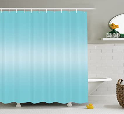 Amazon.com: Ambesonne Ombre Shower Curtain, Open Blue Sky on a ...