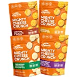 Low Carb, Gluten Free, High Protein Healthy Cheese and Egg Snack – Savory, Keto & Diet Friendly Cheese Crunch with Natural Ingredients, Variety Pack of 4, 2.25oz Bags